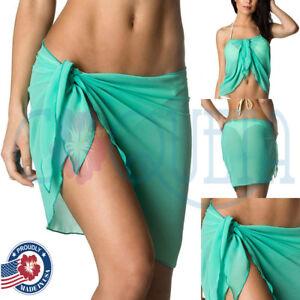 c40e214b9d824 Details about Coqueta fashion women s short pareo TIFFANY skirt chiffon  cover up for swimwear