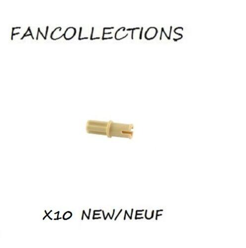 3749 NEUF Technic Axe Axle Pin without Friction Ridges beige//tan Lego x 10