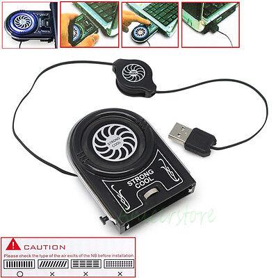 LED Clip Cooling Cooler Turbo Fan Radiator For Laptop Notebook #15