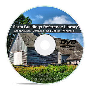Farm-Buildings-Barns-Cottage-Cabin-Tools-Greenhouse-Windmill-Energy-CD-DVD-V76