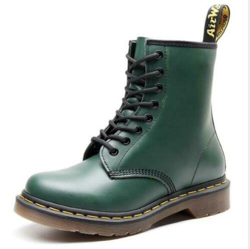 Men/'s New Leather British Lace Up Bikers Combat Ankle Boots Military Shoes RWBN