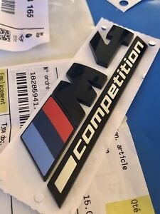 Logo BMW M4 Competition Series 4 F32 F33 F36 Black Badge M Original