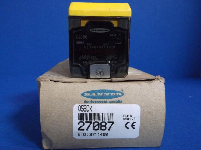 Banner OSBDX Photoelectric Sensor Head 27087 NEW