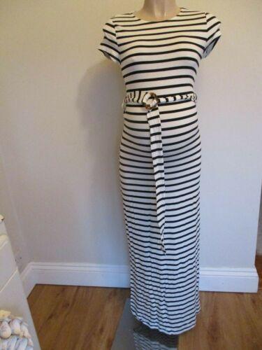 NEW LOOK NAVY /& WHITE STRIPED T-SHIRT MAXI DRESS SIZE 8 10 12 14 16 18 20 BNWT