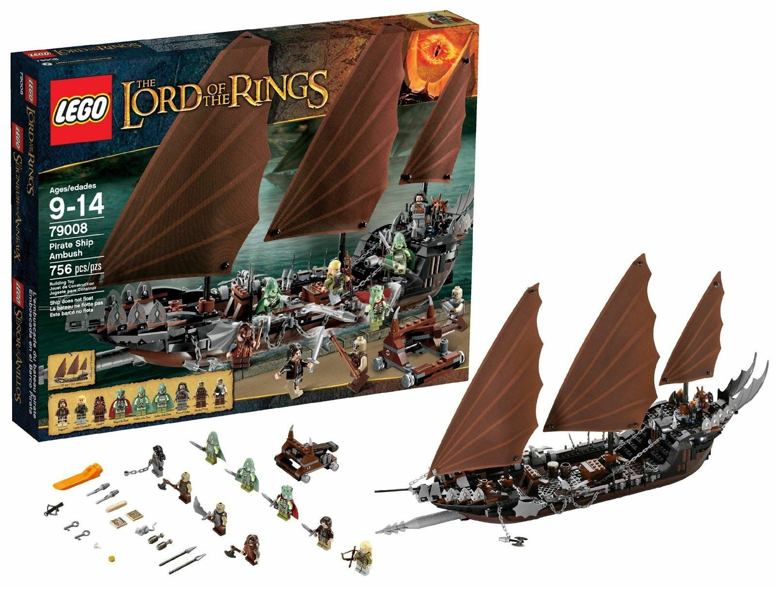 Lego 79008 The Lord Of The Rings Pirate Ship Ambush Ambush Ambush NEW 167a6e