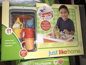 Details about New Just Like Home KITCHEN SINK SET REAL RUNNING WATER DISHES  Toys r us