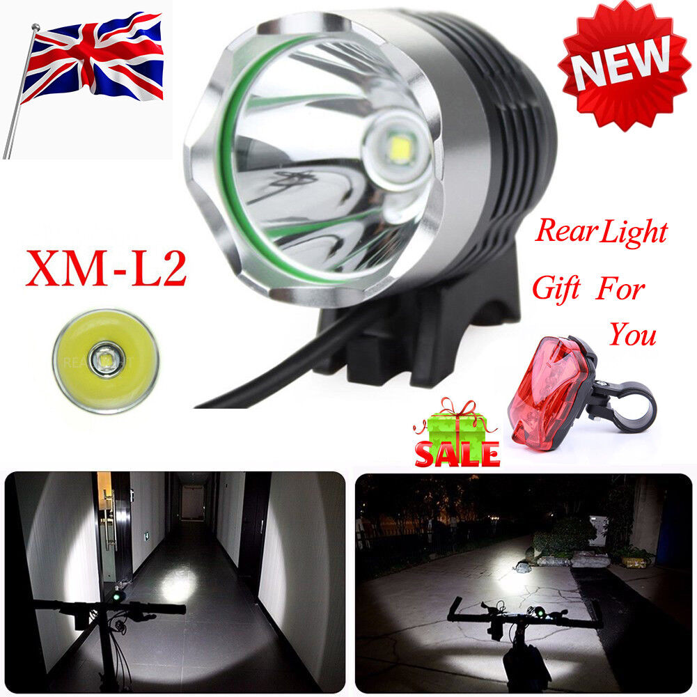 10000Lm 4x XML T6 LED Head Front Bicycle Lamp Bike Light Headlamp Headlight