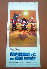 PAPERINO E C. NEL FAR WEST locandina poster Short Program n.12 Disney AJ96