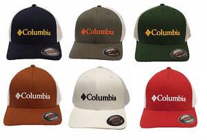 d83810205b0b9 Columbia Unisex Rocky Peak Ridge Flexfit Mesh Ball Cap Hat S M L XL ...