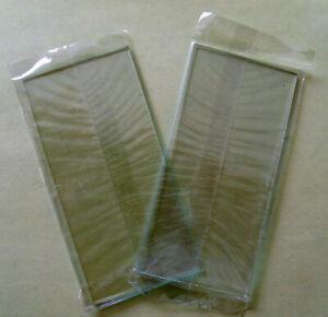 Lot de 2 Vitres de protection incolores pour masque de soudure 105 x 50 ep 2 mm