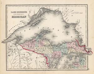 1876-Gray-039-s-034-Lake-Superior-and-the-Northern-part-of-MICHIGAN