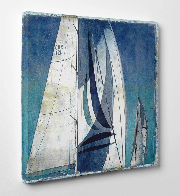 Quadro Moderno Barche a Vela 1 Stampa su Tela Canvas Vernice Pennellate