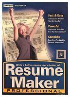 Resume Maker Professional Version 14 (pc) Sealed Retail Box - Win7, Vista, Xp