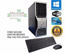 Dell Tower Windows 10 HP Computer PC Intel Quad Core 2 3.00GHZ Duo 4GB RAM 1TB