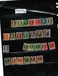 GERMANY-BAYERN-1914-19-GROUP-OF-26-USED-cat-35-00-GERMANY-26