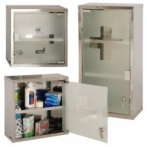 Ordinaire Wall Mounted Lockable Stainless Steel Medicine Cabinet First
