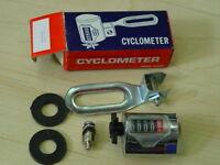 Cyclometer Kilometerzähler Set 20` Fahrrad Nabenmontage Kult 60er Jahre Neu Ovp