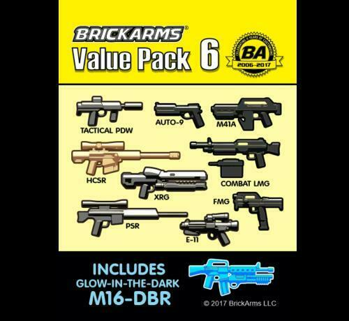 BrickArms 11 Piece Value Pack Version 6 Weapons for Minifigures NEW