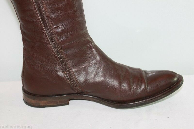 VINTAGE Boots COX All Brown Leather T 38.5 38.5 38.5 BE dd0ef2