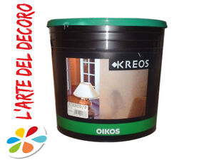 PITTURA MURALE DECORATIVA KREOS OIKOS BIANCO 4 KG | eBay
