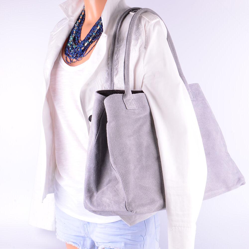 Ital Tasche Hand Wild Leder Shopper Beutel SchulterWildleder Borse in in in Pelle Neu | Modern Und Elegant  | Erlesene Materialien  | Leicht zu reinigende Oberfläche  c1c3c8