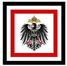 8,4x8,4cm PREMIUM Aufkleber Preussen deutsches Reich Kaiser Auto car Sticker