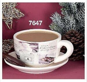 Hoff-Interieur-7647-Mug-with-Handle-Plate-034-Angeli-034-Milk-Coffee-Cup-NEW