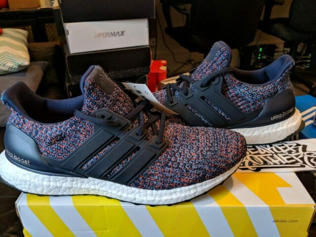 quality design 3cd26 d3fa5 Mens adidas Ultra Boost 4.0 Collegiate Navy Ash Blue White Black Bb6165 US 9