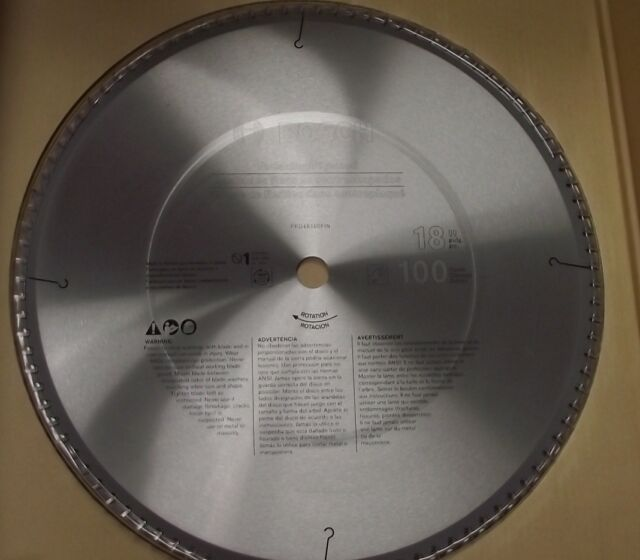 """Bosch PRO18100FIN 18"""" x 100 Carbide Tooth Finishing Saw Blade Japan"""
