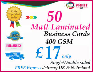 400gsm business cards matt laminated 50 double sided free image is loading 400gsm business cards matt laminated 50 double sided reheart Gallery
