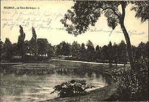 1-WK-World-War-I-Feldpostkarte-Roubaix-1915-Feldpost-nach-Dorfchemnitz-gelaufen