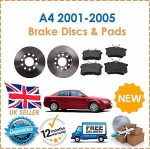 Pour-Audi-A4-1-8-T-1-9TDi-2-0FSi-2-5TDi-B6-2001-2005-Arriere-Disques-De-Frein-amp-Patins-NEUF