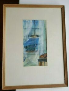 Estelle-Zorman-McGuckin-Watercolor-Matted-Framed-amp-Signed-11-86