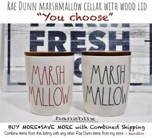 Rae-Dunn-Canister-Cellar-MARSHMALLOW-Wood-Lid-Christmas-034-YOU-CHOOSE-034-NEW-039-19