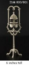 BIRD CAGE W/BIRD WHITE 1:12 SCALE DOLLHOUSE MINIATURES Heirloom Collection