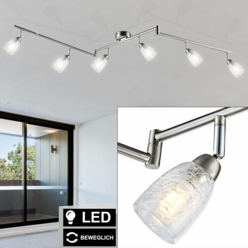 LED Decken Leuchte Glas Crackle Optik Wohn Zimmer Spot Leiste Lampe verstellbar