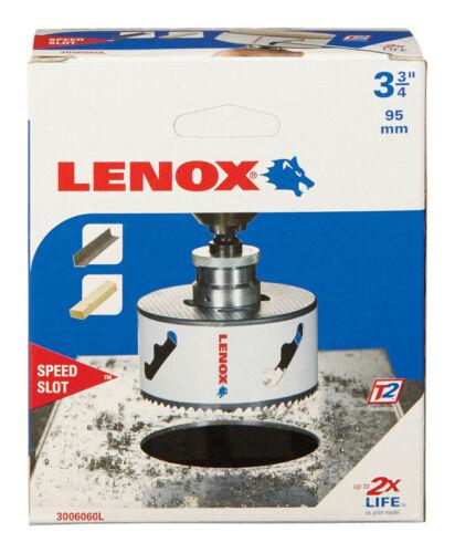 1 pc. Dia Lenox  Speed Slot  3-3//4 in L Bi-Metal  Hole Saw  1//2 in x 1.5 in