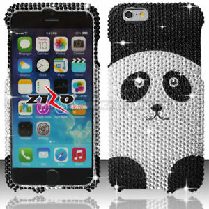 Plata-Diamante-Panda-funda-protectora-para-el-iPhone-6-Plus