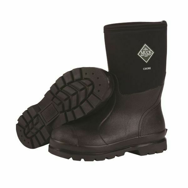 Muck Boots Company Adult Men's/Women's CHORE CLASSIC MID, BLACK, Neoprene Rubber