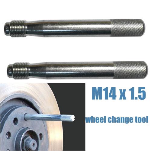 Universel De Montage De Roue Broche Outil M14x1.25 Inoxydable Clous Montage aide trop