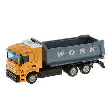 Mini 1:64 Diecast Tipper Tip Lorry Dump Truck Model Alloy Vehicle Cars Toys