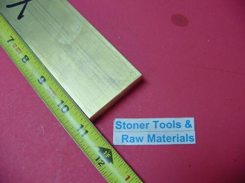 "1//2/"" x 2/"" C360 BRASS FLAT BAR 11/"" long Solid .500/"" Plate Mill Stock H02"