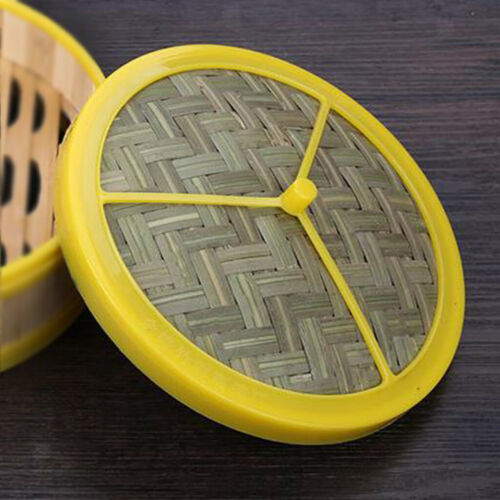 Bamboo Dumpling Steamer Basket Weaved Lid Mesh Mattress Pad for Home Kitchen