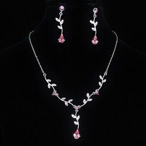 Style magnifique officiel de vente chaude incroyable sélection Détails sur Parure de bijoux femme argentée