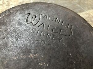 1950s-60s-Wagner-Ware-Sidney-O-3D-6-5-034-Cast-Iron-Skillet-Flat-Bottom-Smooth-USA