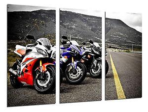 Cuadro Moderno Motos de Carreras Yamaha, Carretera, ref. 26543