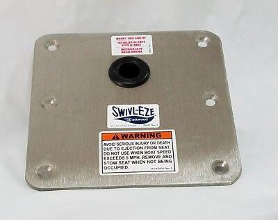 ATTWOOD SWIVL-EZE 7X7 OFFSET STAINLESS STEEL BASE 67739-SC