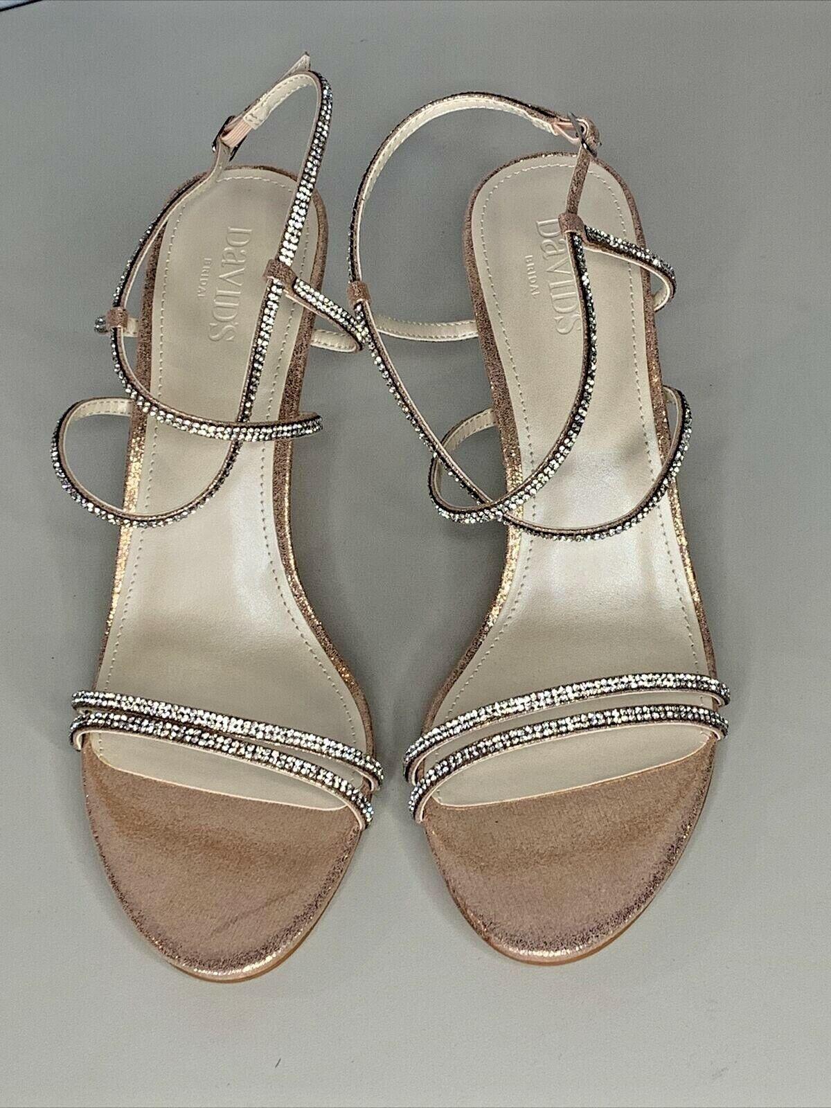 David's Bridal Shoes Heels Size 11 Lyla Rose Gold Sandal Heels