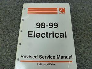 1998 1999 Saturn Sl Sl1 Sw1 Sc1 Sl2 Sw2 Sc2 Electrical Wiring Diagrams Manual Ebay