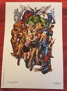 Avengers-1-SDCC-Heroes-Campbell-Unsigned-Color-Litho-NOT-SIGNED-By-Stan-Lee